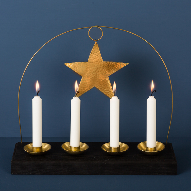 Adventsljus mässing - Advent candle brass - Malin Appelgren Bailey