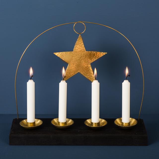Adventsljus mässing - Advent candle brass - Malin Appelgren Bailey