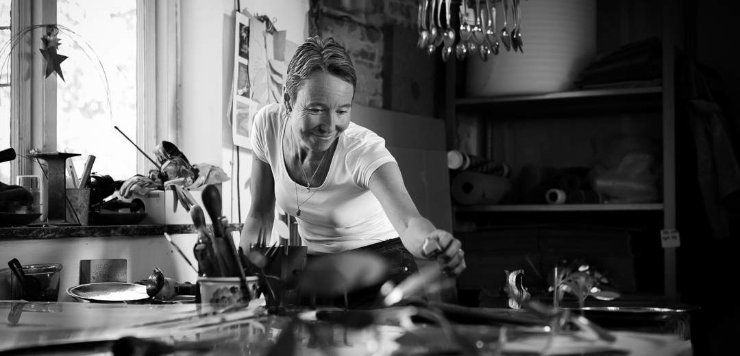 Malin Appelgren Bailey i verkstaden - in the workshop