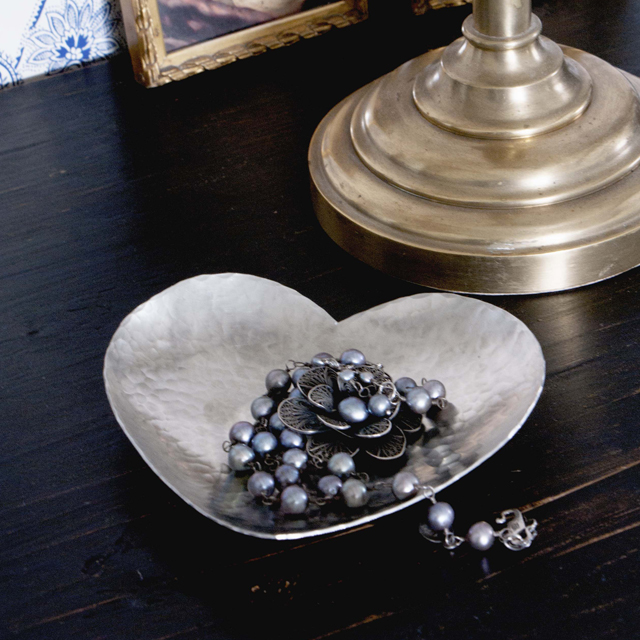 Hjärtskål tenn - heart bowl pewter - Malin Appelgren Bailey