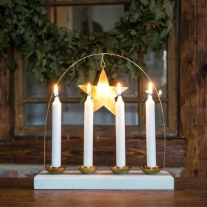 Advent candleholder christmas star