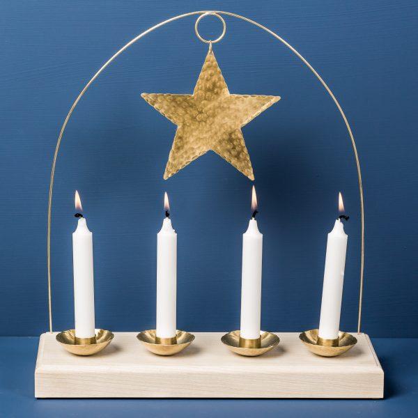 advent-candleholder-wood-brass-malinappelgren