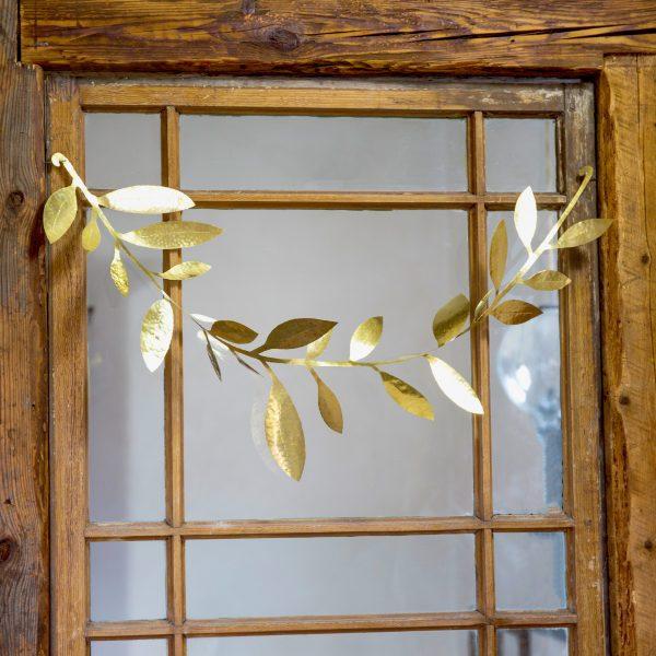 Garland christmas decoration brass door handmade