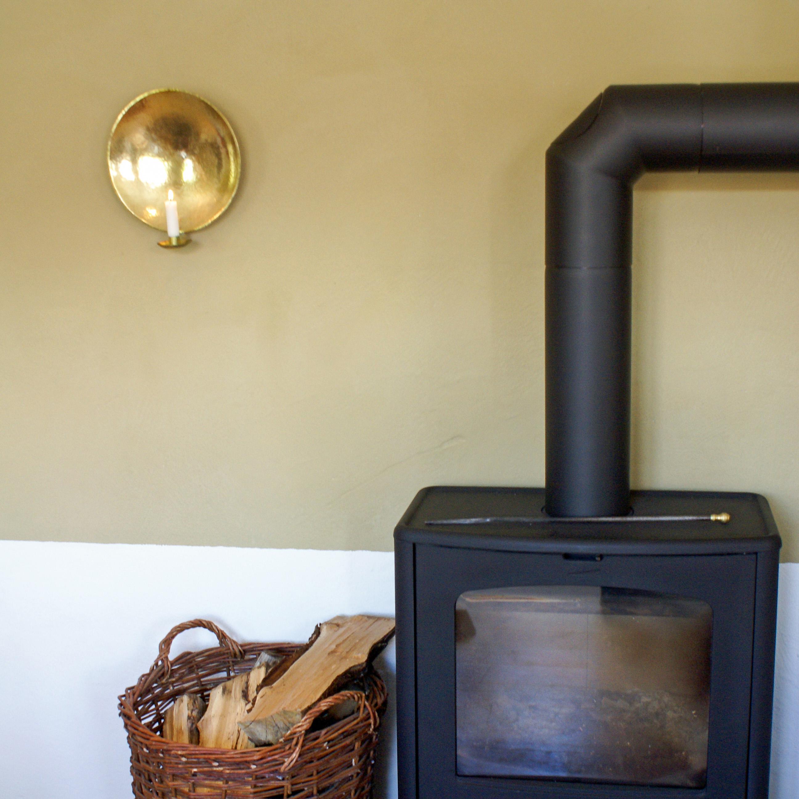 Largew allsconce brass fire place