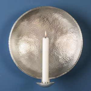 Large Wall Sconce, Pewter