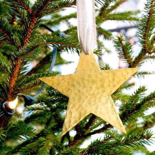 Star christmas decoration brass