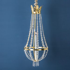 Crystal Chandelier, Brass, Large
