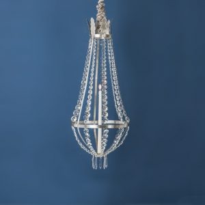 Crystal Chandelier, Pewter, Small