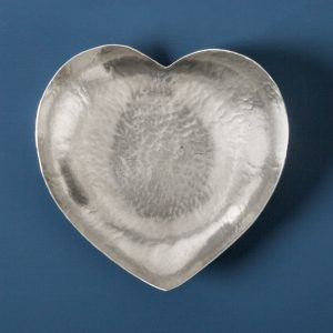 Heart Bowl, Pewter, Large