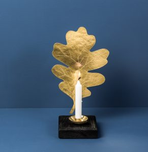 Leaf Sconce Oak